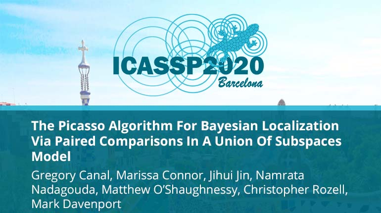 The Picasso Algorithm For Bayesian Localization Via Paired Comparisons In A Union Of Subspaces Model