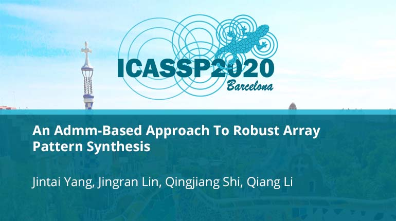An Admm-Based Approach To Robust Array Pattern Synthesis