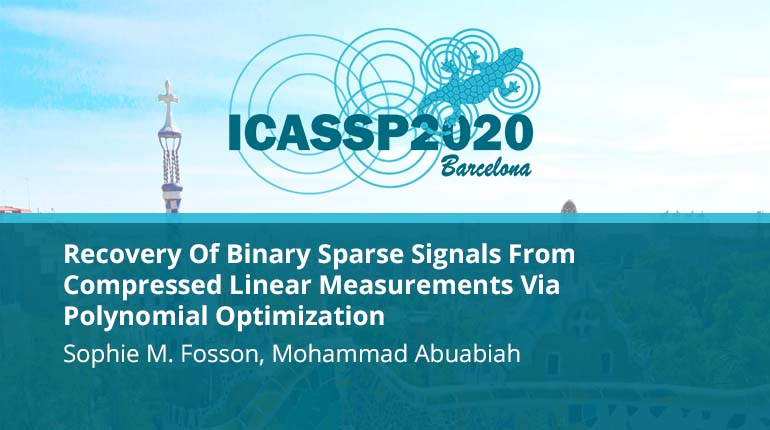 Recovery Of Binary Sparse Signals From Compressed Linear Measurements Via Polynomial Optimization