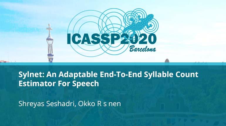 Sylnet: An Adaptable End-To-End Syllable Count Estimator For Speech