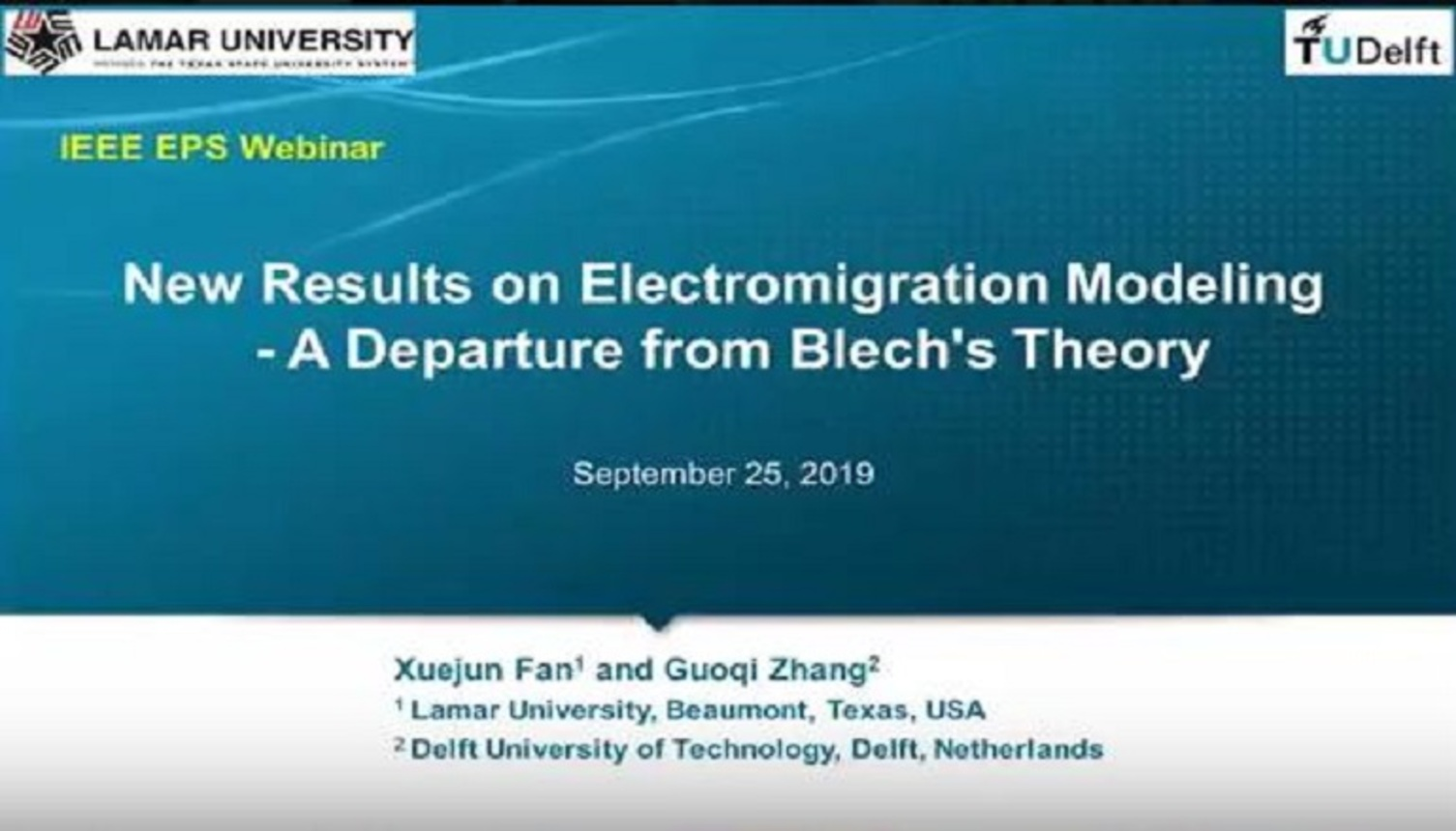 New Results on Electromigration Modeling - A Departure from Blech's Theory