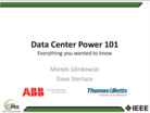 IEEE PES Webinar _Introduction to Data Center Infr