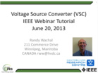 IEEE PES Webinar _Introduction to VSC HVDC Technol