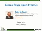 PES Basics of Power System Dynamics