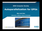 Autoparallelization for GPUs