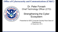 Strengthening the Security Ecosystem