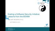 Scaling a Software Security Initiative: Lessons from the BSIMM