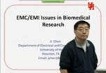 EMC - Ji Chen - EMC/EMI Issues in Biomedical Research