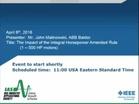 IAS Webinar Series:  The Impact of the Integral Horsepower Amended Rule (1-500 HP Motors)