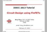 Circuit Design Using FinFETs