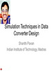 Simulation Techniques in Data Converter Design