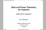 Data and Power Telemetry for Implants
