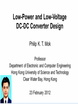Low Power and Low Voltage DC DC Converter Design