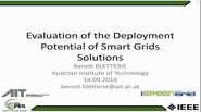 Evaluation of the Deployment Potential of Smart Grids Solutions