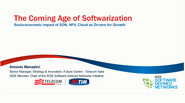 The Coming Age of Softwarization - Socio-economic Impact of SDN, NFV, Cloud as Drivers for Growth