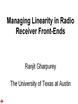 Managing Linearity in Radio Front Ends Video