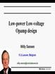 Low Power Low Voltage Opamp Design Video