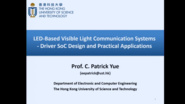 LED-Based Visible Light Communication Systems Driver SoC Design and Practical Applications