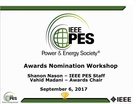 Awards On-Line Nomination Workshop