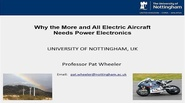 Technology Development from the More Electric Aircraft to All Electric Flight Video