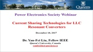 Current Sharing Technologies for LLC Resonant Converters Video