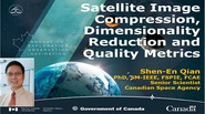 Satellite Image Compression, Dimensionality Reduction and Quality Metrics