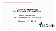 Frequency references for Internet of Everything Video