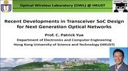 Recent Developments in Transceiver SoC Design for Next Generation Optical Networks Video