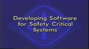 Developing Software for Safety Critical Systems