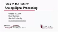 Back to the Future: Analog Signal Processing Video