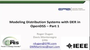 Introduction to OpenDSS Parallel Machine - Parallel Processing with OpenDSS Part 1