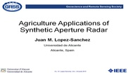 Agriculture Applications of Synthetic Aperture Radar