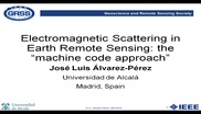 Electromagnetic Scattering in Earth Remote Sensing: the