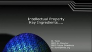 Intellectual Property: Key Ingredients
