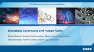 IEEE Blockchain: Blockchain Governance and Human Rights
