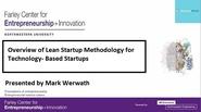 Overview of Lean Startup Methodology for Technology Based Startups