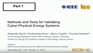 Methods and Tools for Validating Cyber-Physical Energy Systems Part 1
