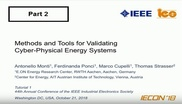 Methods and Tools for Validating Cyber-Physical Energy Systems Part 2