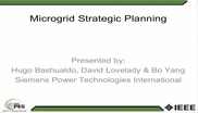 Strategic Planning for Microgrids - Strategies and Tools Video