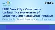 IEEE Smart Cities Webinar - Casablanca Update