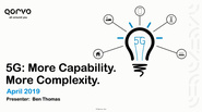 IEEE Future Networks: 5G: More Capability. More Complexity