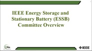 Meet the Committee - Energy Storage Stationary Battery (ESSB)