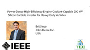 Power-Dense High-Efficiency Engine-Coolant-Capable 200 kW Silicon Carbide Inverter for Heavy-Duty Vehicles