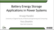 Battery Energy Storage Applications in Power Systems