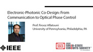 Electronic-Photonic Co-Design; From Communication to Optical Phase Control