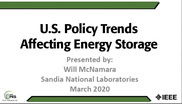 U.S. Policy Trends Affecting Energy Storage