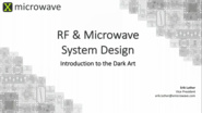 RF and Microwave System Design
