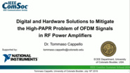 Digital and hardware solutions to mitigate the high PAPR problem of OFDM signals signals in RF power amplifiers