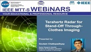 Terahertz Radar for Stand Off Through Clothes Imaging Video