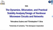 The Dynamics, Bifurcation, and Practical Stability Analysis/Design of Nonlinear Microwave Circuits and Networks Part 3